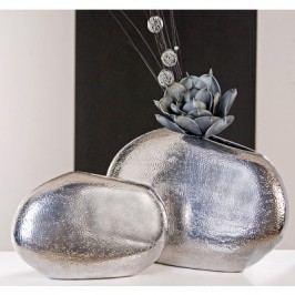 Dekoratívna váza BRYONIA 22 cm - platinová
