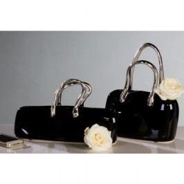 Dekoratívna váza HANDBAG - čierna