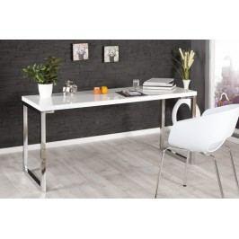 Písací stôl DELK 160 cm - biela