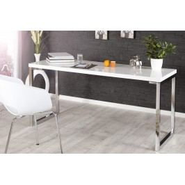 Bighome - Písací stôl DELK 140 cm - biela