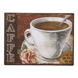 Ceduľa CAFFE - hnedá