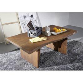 Masiv24 - WOODLAND Konferenčný stolík 120x60 cm - tmavohnedá, akácia