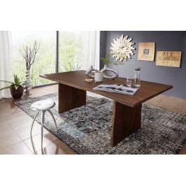 Masiv24 - WOODLAND Jedálenský stôl 200x100 cm, tmavohnedá, akácia