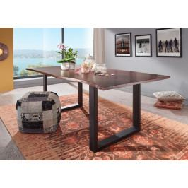Masiv24 - METALL Jedálenský stôl s tmavošedými nohami 120x90, akácia, hnedá