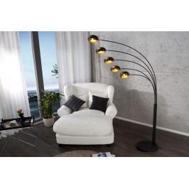 Stojaca lampa FIWE - čierna/zlatá