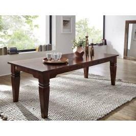SUNO CAMBRIDGE Koloniálny jedálenský stôl 220x100 masívne akáciové drevo