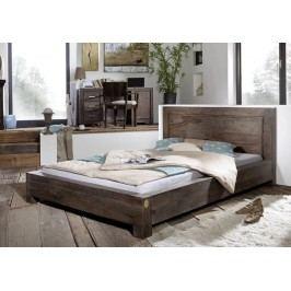 MONTANA Sheesham posteľ 140x200, masívne palisandrové drevo