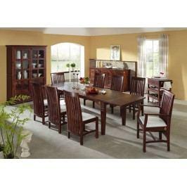SUNO CAMBRIDGE  Koloniálny jedálenský stôl 180-260x90 masívny akáciový nábytok