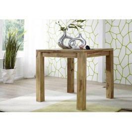 LIGHT WOOD Masívny indický palisander, jedálenský stôl 80x80