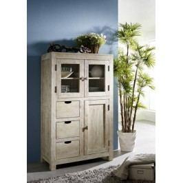 WHITE WOOD príborník maľovaný akáciový nábytok