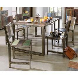 PORTO jedálenský stôl - 200x100cm staré lakované indické drevo