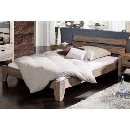 GREY WOOD Sheesham posteľ 200x200, masívne palisandrové drevo