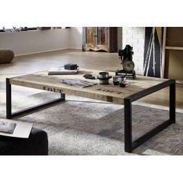 FABRICA konferenčný stolík #111, liatina a mangové drevo, potlač