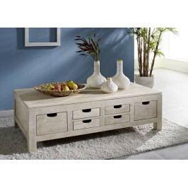 WHITE WOOD konferenčný stolík maľovaný akáciový nábytok