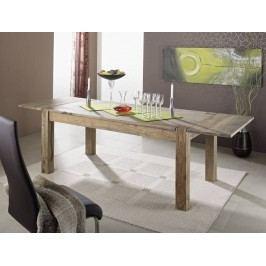 GREY WOOD Masívny jedálenský stôl 180x90 s bočnými plochami, indický palisander