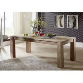 BIG GREY WOOD Masívny indický palisander, jedálenský stôl 240x100
