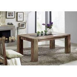 MAMMUT GREY WOOD Sheesham jedálenský stôl 200x100, masívne palisandrové drevo