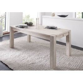 WHITE WOOD 90x140 cm jedálenský stôl maľovaný akáciový nábytok