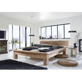 METALL posteľ 200x200cm akáciový nábytok
