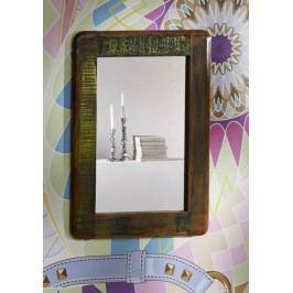 TESORI zrkadlo #42, liatina a staré drevo