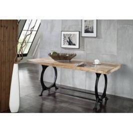 INDUSTRY jedálenský stôl 200x100 #28, liatina a staré drevo