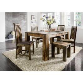 PLAIN SHEESHAM jedálenský stôl 220x100 olejovaný indický palisander, sivá