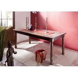COLORES jedálenský stôl 150x80 lakované staré indické drevo