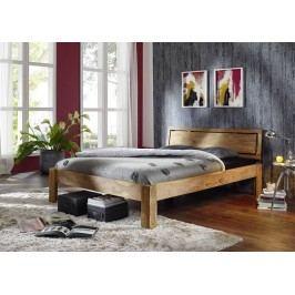LIGHT WOOD Sheesham posteľ 180x200 , masívne palisandrové drevo