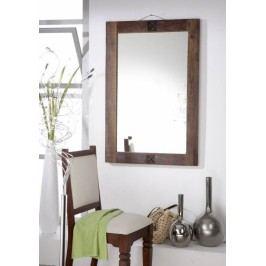 OLDTIME zrkadlo - 100x88cm lakované staré indické drevo