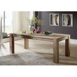 BIG GREY WOOD Masívny jedálenský stôl 160x100 indický palisander