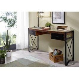 INDUSTRY písací stôl, liatina a staré drevo