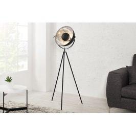 Stojaca lampa SADO - čierna, strieborná