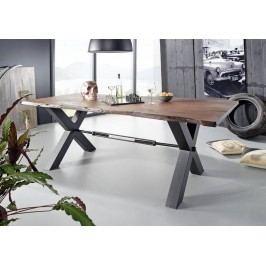 DARKNESS Jedálenský stôl 240x100cm X-nohy - čierna