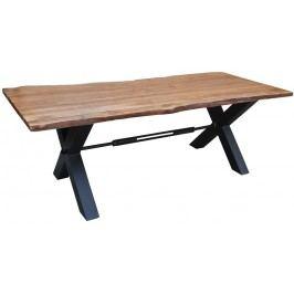 DARKNESS Jedálenský stôl 200x100cm X-nohy - čierna