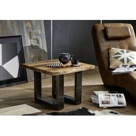 ROUND Konferenčný stolík METALL 60x60cm indický palisander