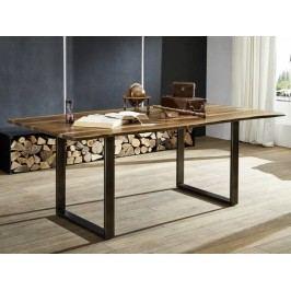 ROUND Jedálenský stôl METALL 180x90cm, indický palisander