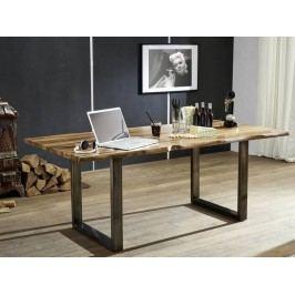 ROUND Jedálenský stôl METALL 160x90cm, indický palisander