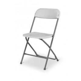 Skladacia cateringová stolička - biela