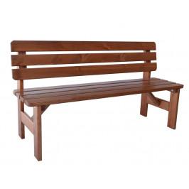 Záhradná drevená lavica Viking - 180 cm, lakovaná