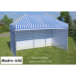 Záhradný párty stan PROFI STEEL 3 x 4,5 - modro-biela
