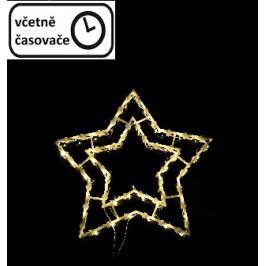 Vianočná dekorácia na okno - 35 LED, hviezda