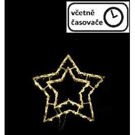 Vianočná dekorácia na okno - 50 LED, hviezda