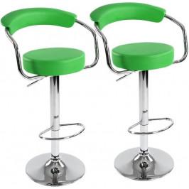 Sada barových stoličiek 2 ks, zelená, 53 x 105 x 52 cm