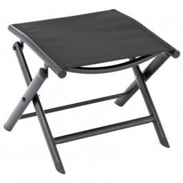 Sklopná hliníková stolička, čierna
