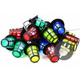 Farebné osvetlenie - 20 LED lampášikov - 5 m