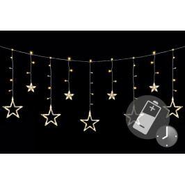 Vianočná LED reťaz - hviezdy, 1,65 m, 138 LED, teple biele