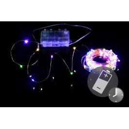 LED osvetlenie - medený drôt, 100 LED, farebné