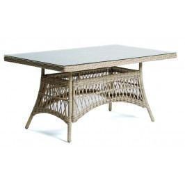Záhradný polyratanový stôl so sklenenou doskou DENVER - 160 cm