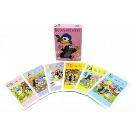 Kvarteto Krtek a sýkorka společenská hra - karty v papírové krabičce 6x9cm