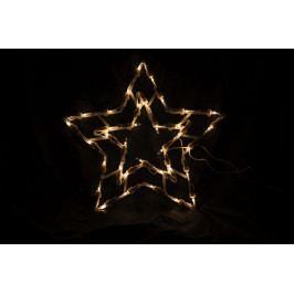 Vianočná LED dekorácia - hviezda - 30 cm